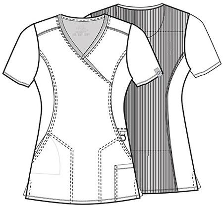 Antybakteryjna damska bluza medyczna  granatowa Cherokee Infinity 2625A