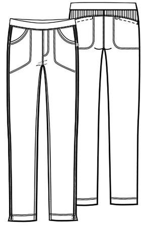 Antybakteryjne damskie spodnie medyczne różowe    Cherokee Infinity 1124A