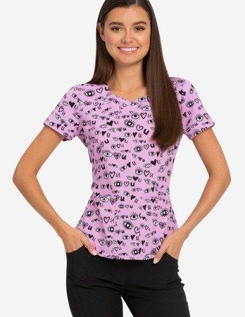 Damska bluza medyczna HS637 Eye love U